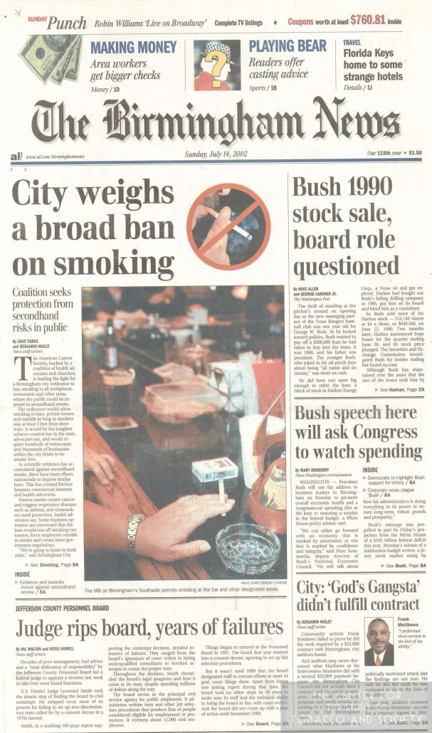 Alabama State Headlines on Smoking – The Center for the
