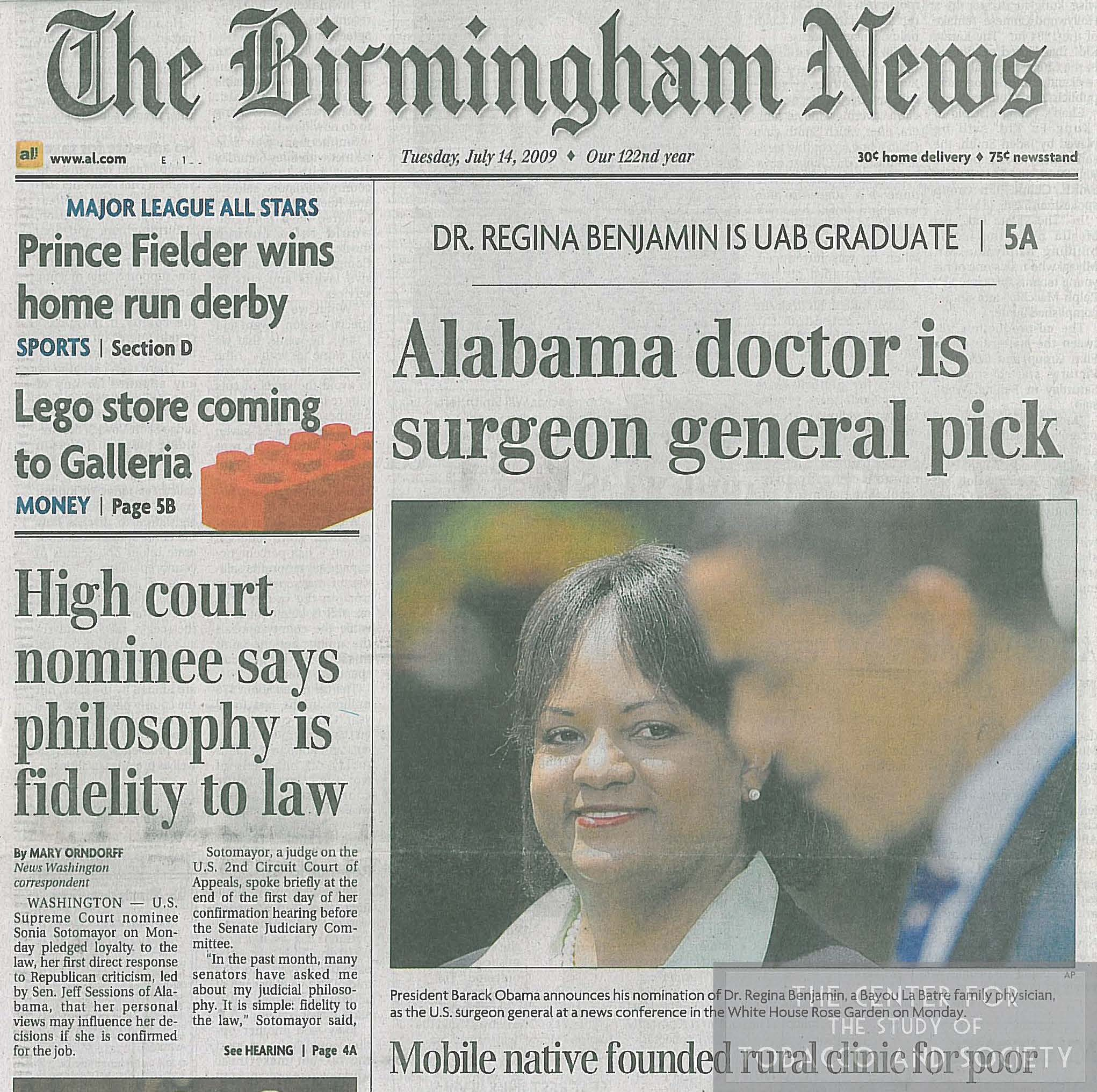 Alabama Doctor is Surgeon General Pick wm