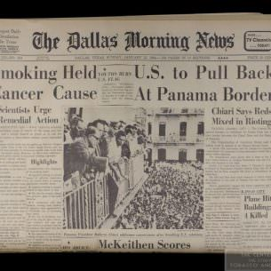 Dallas Morning News Smoking Held Cancer Cause 1 wm