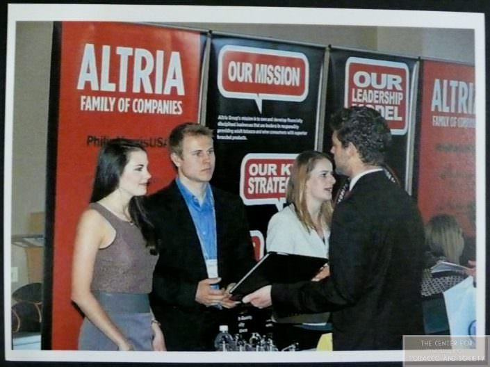 Students at Altria Booth wm