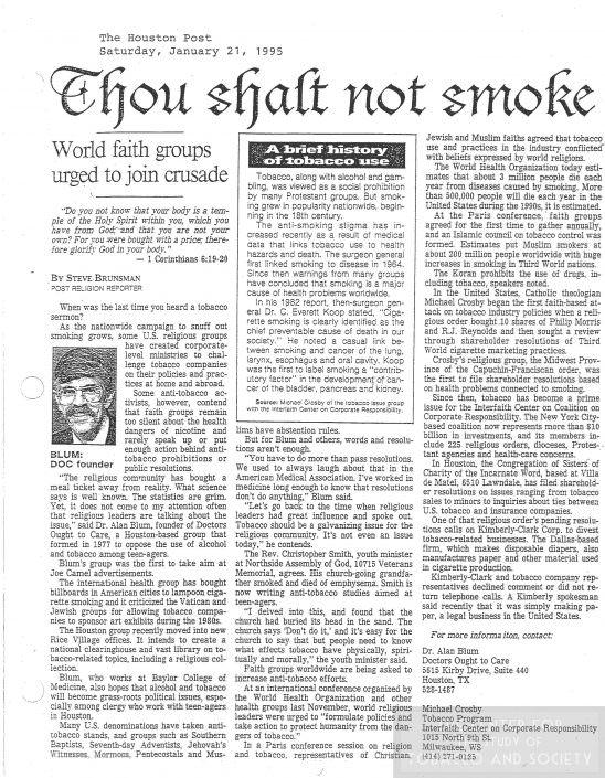 6Thou Shalt Not Smoke January 21 1995 wm