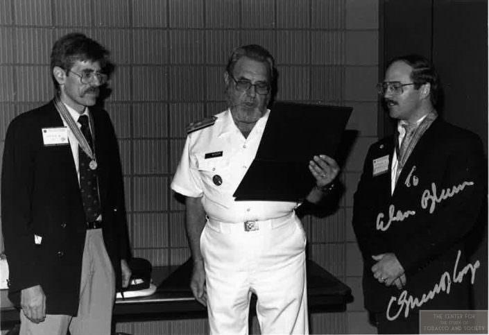 AB RR receiving the Surgeon Generals Medallion wm