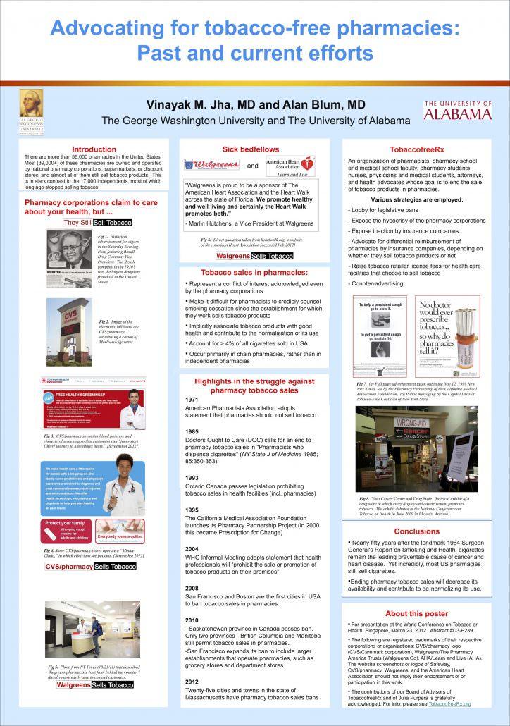 AdvocatingTobaccoFreePharmacies Poster2012