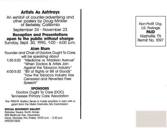 Artists As Ashtrays Back wm