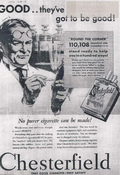 Chesterfield pharmacy ad 1931 wm