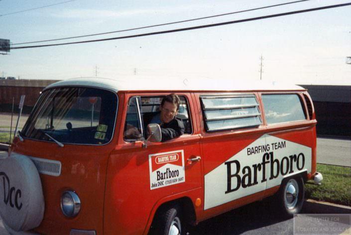 Eric Solberg the Barfboro van wm