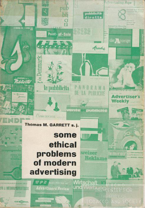 Some Ethical Problems of Modern Advertising Tom Garrett wm