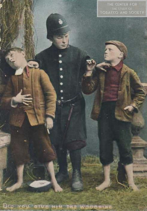 postcard policecatch boys smoking wm 1