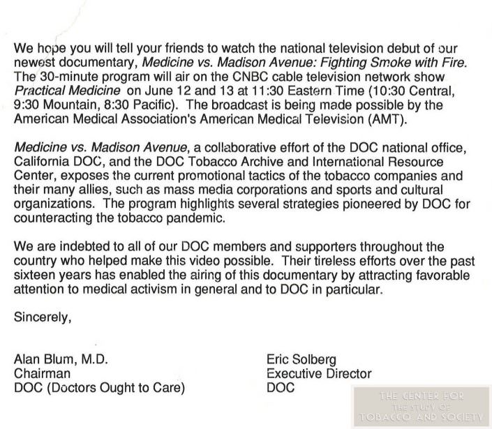 1992 Letter about Med vs. Mad wm