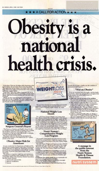Obesity is a national health crisis wm