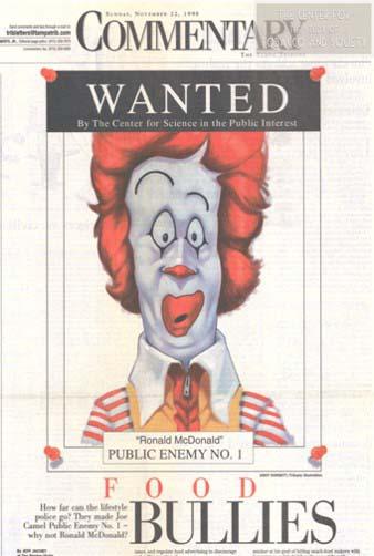 Wanted Ronald McDonald wm