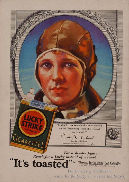 02 Poster Lucky Strike Amelia Earhart