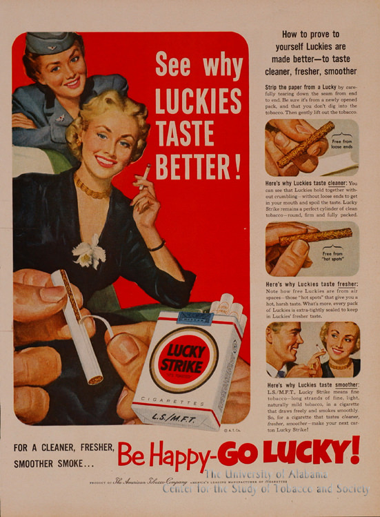 17 Poster Lucky Strike Luckies Taste Better