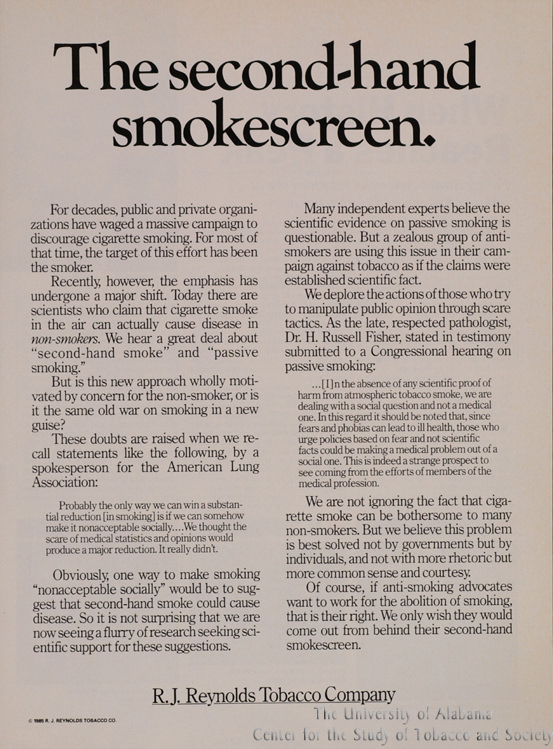23 Poster Second Hand smokescreen