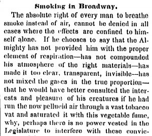 1853 Smoking in Broadway NYT