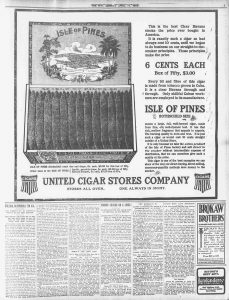 1905 united cigars stores all over