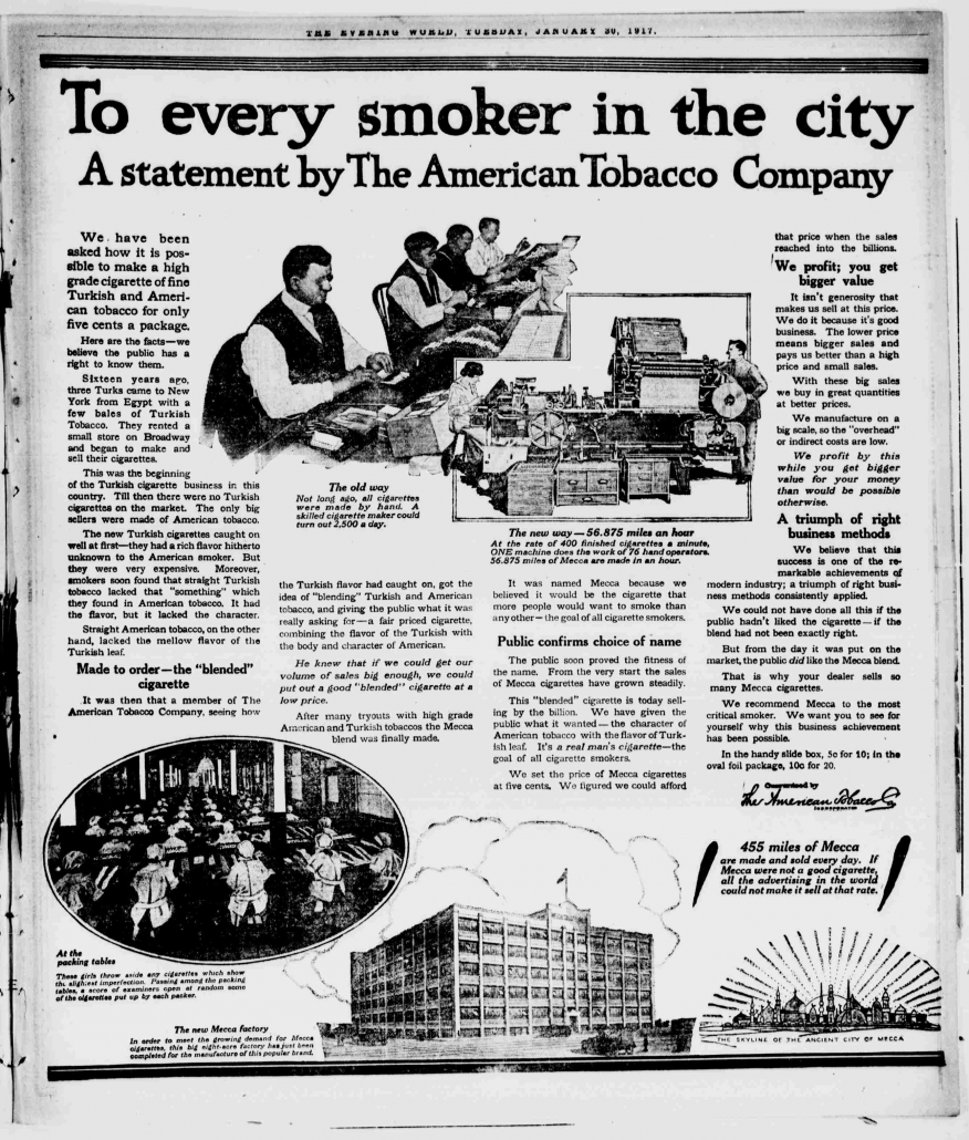 1917 atc to every smoker in the city