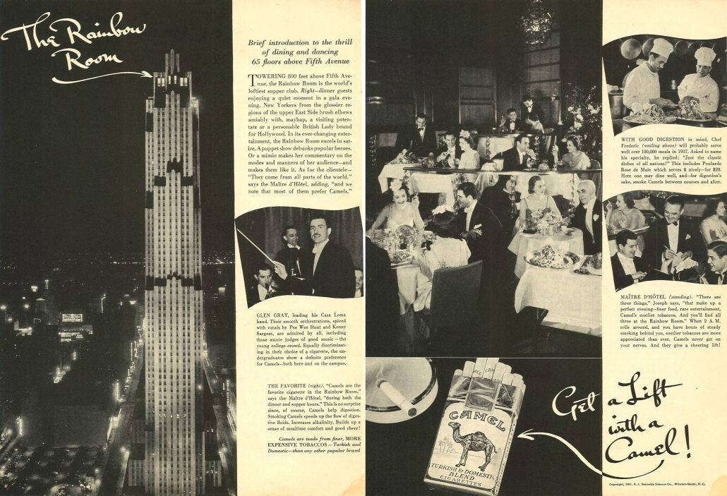 1937 The Rainbow Room for Camel
