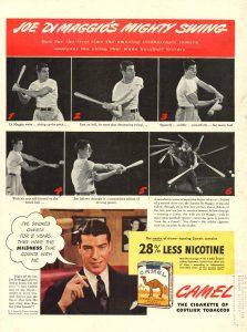 1942 LIFE magazine reverse cover Joe DiMaggio Swing Camel