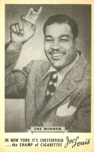 1948 Joe Louis for Chesterfield New York