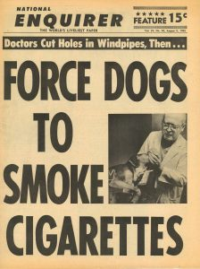 1965 National Enquirer Doctors Force Dogs to Smoke