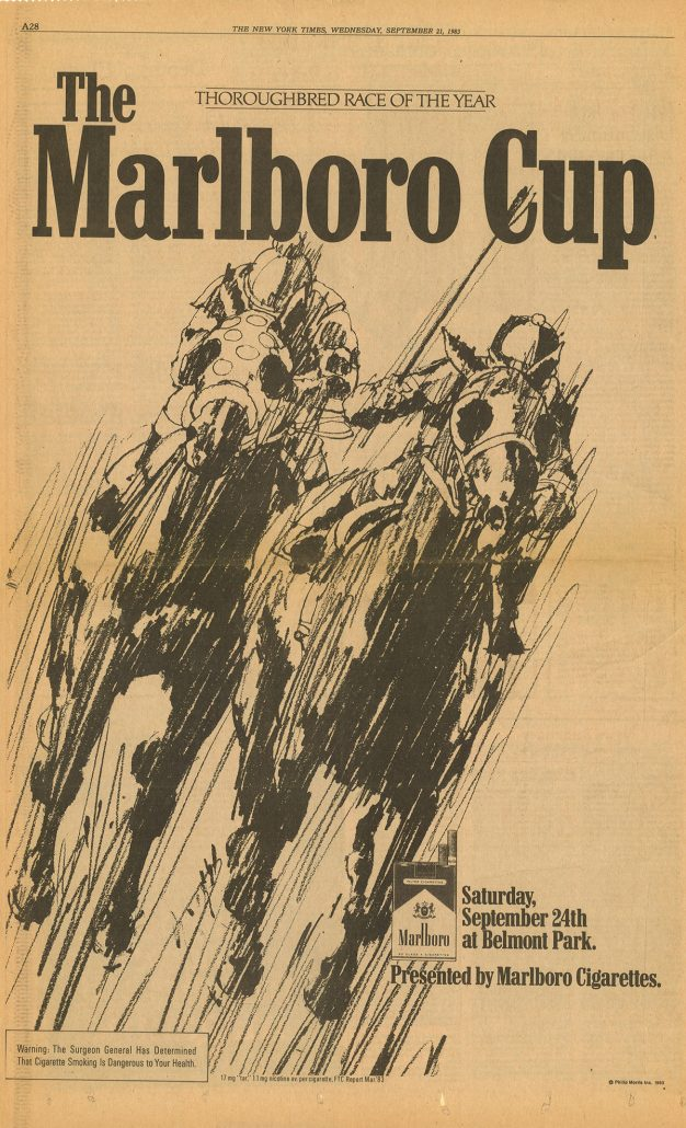 1983 Marlboro Cup full page A28 re