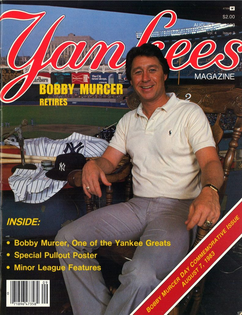 1983 Yankees Magazine Murcer retires