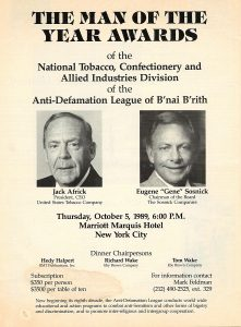 1989 ADL Man of the Year US Tobacco