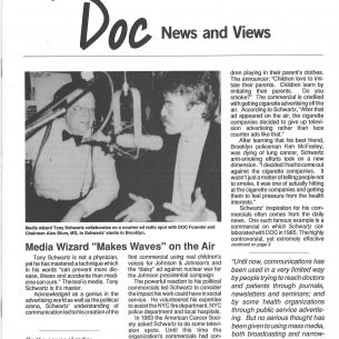 1989 DOC Newsletter Tony Schwartz  p1