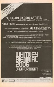 2006 Whitney Biennial advertisement 1