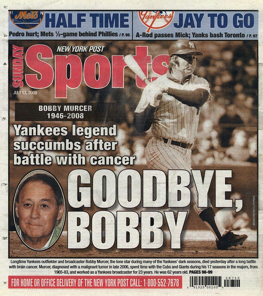 2008 New York Post Goodbye Bobby