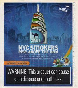 2011 Camel SNUS Village Voice ad