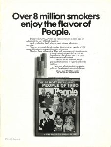8 million smokers people magazine ad 1
