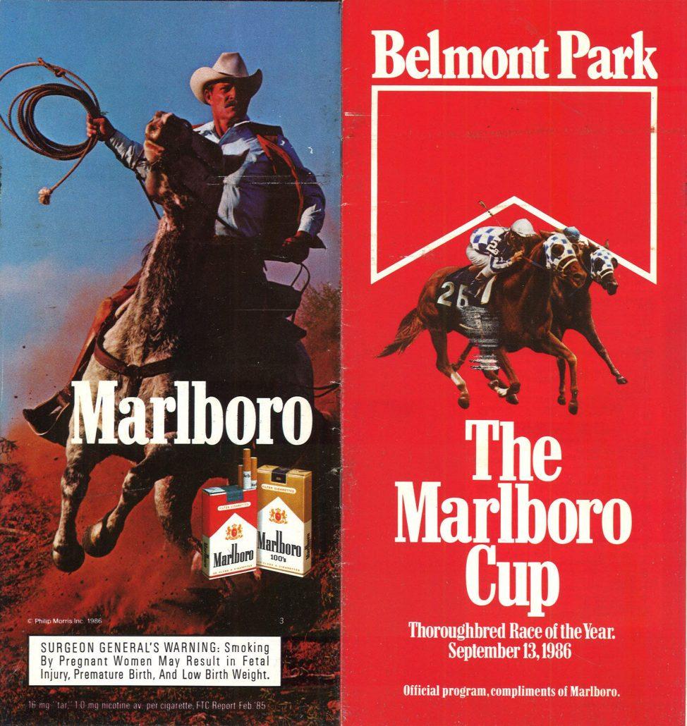 Belmont Park Marlboro Cup 1986 program