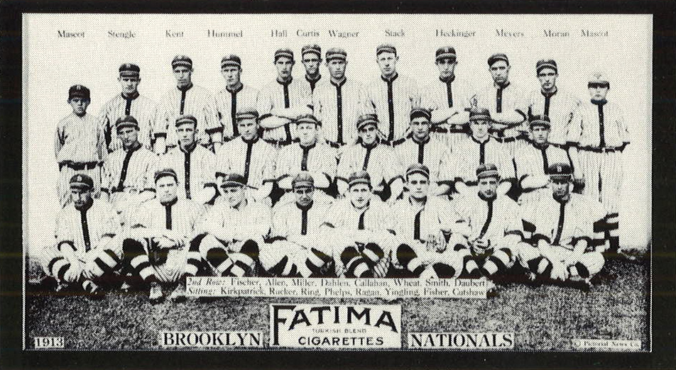 Brooklyn Nationals 1913 Fatima card  Front