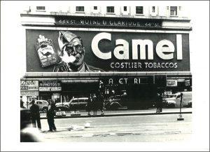 Camel Billboard Times Square Postcard replica
