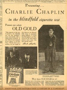 Charlie Chaplin Old Gold