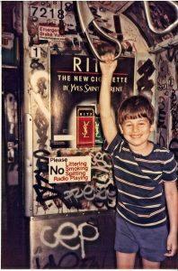 Child in subway YSL ad