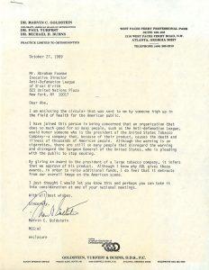 Goldstein letter