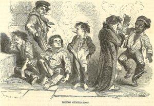 Harpers Weekly 1855 Rising Generation cartoon  Excerpt