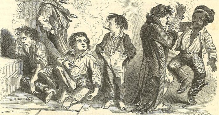 Harpers Weekly 1855 Rising Generation cartoon  Excerpt