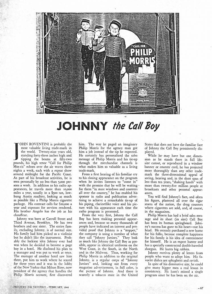 JohnnyCallBoy PrintersInkMonthly