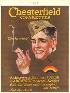 LIFE magazine Young soldier for Chesterfield