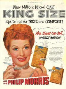 Lucy color ad for Philip Morris 1953