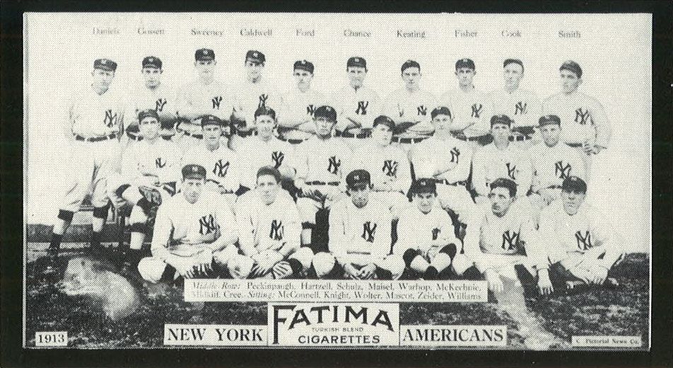 New York Americans 1913 Fatima card  Front