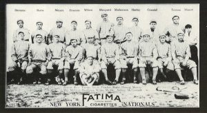 New York Nationals 1913 Fatima card  Front