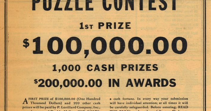 Old Gold Puzzle Contest