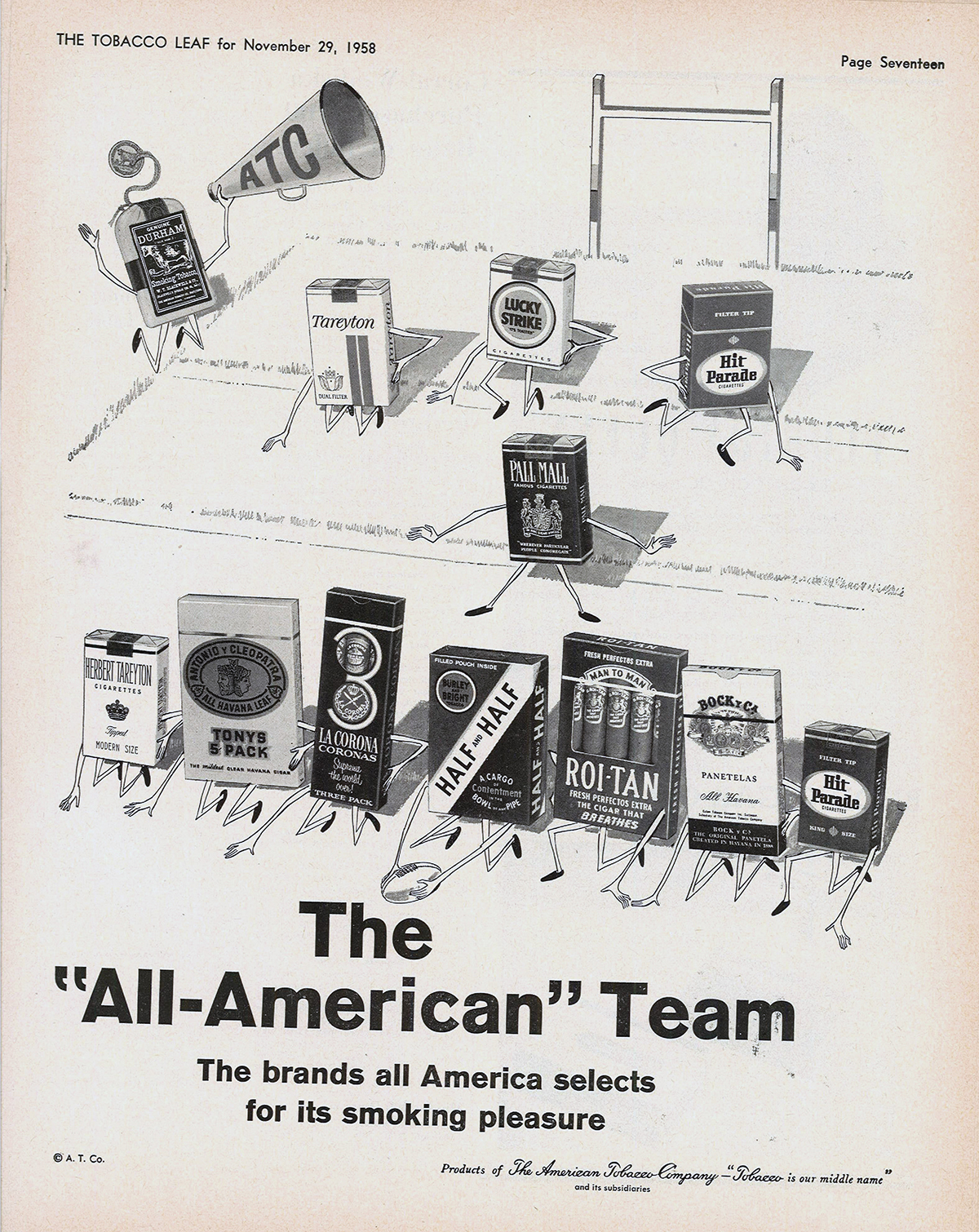 The All American Team trade ad 1