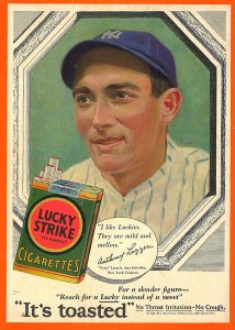Tony Lazzeri for Lucky Strike