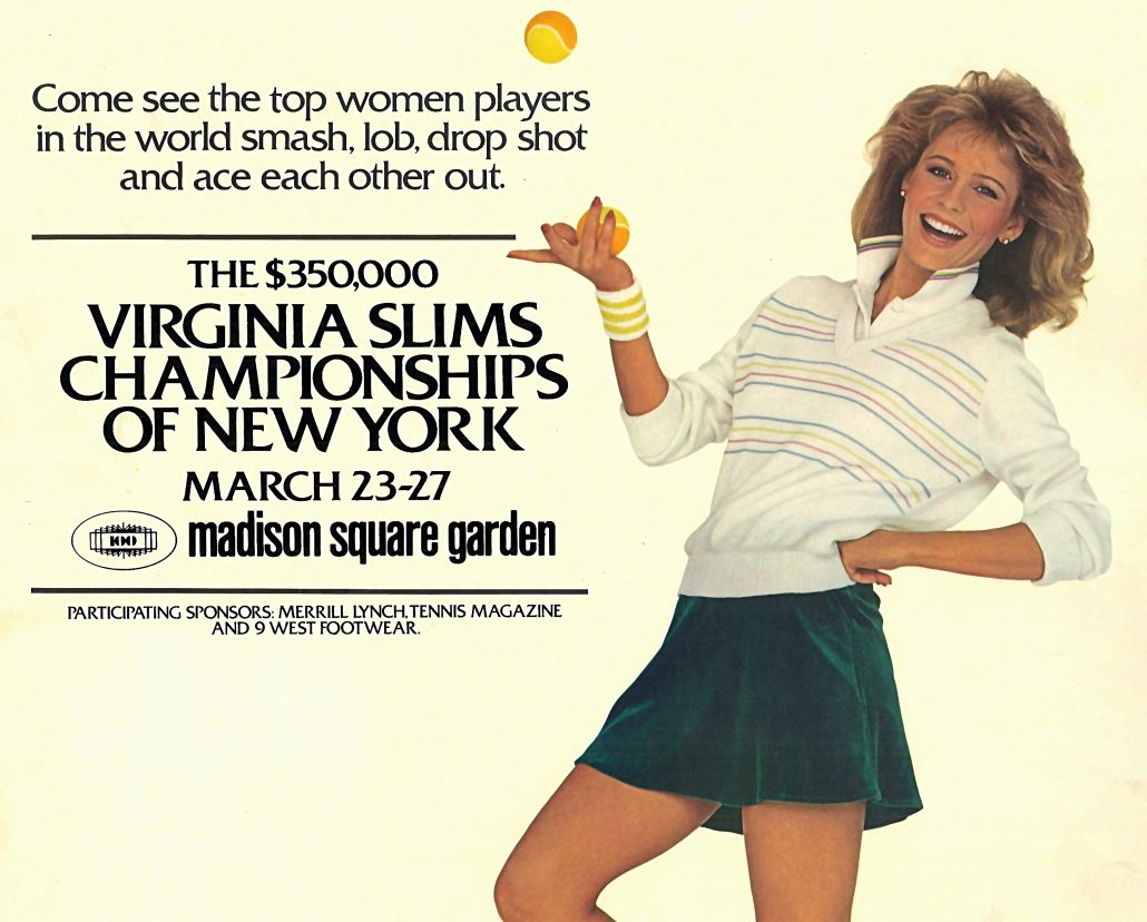 VA Slims Tennis Cutout
